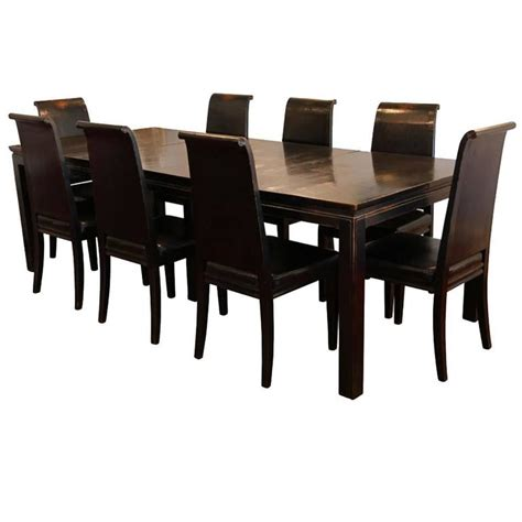 asian style dining table asian style black lacquered elmwood dining table and