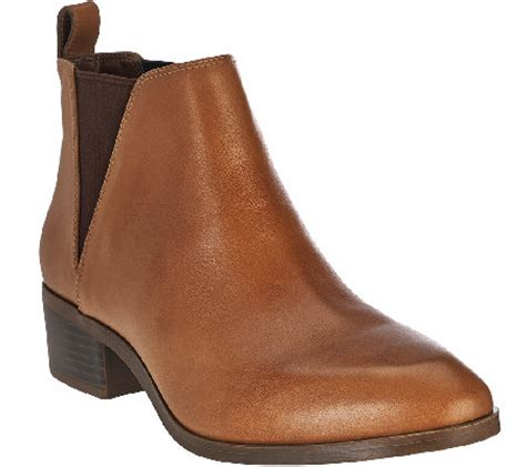 sole society boots sole society leather chelsea boots mars qvc