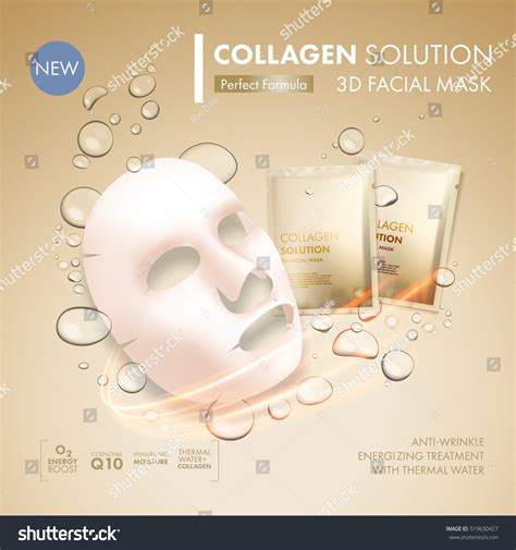 Masker Epoch Sachet mask sheet gold collagen sachet stock vector