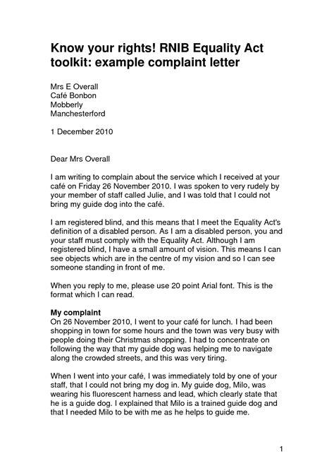 Employee Complaint Letter Against Employer Sle Exle Of Employee Complaint Letters Book Covers