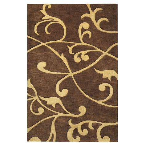 home accent rug collection home decorators collection perpetual brown 2 ft 3 in x 3