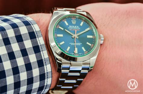 Rolex Milgauss Blue on with the rolex milgauss blue ref 116400gv