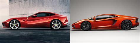 Lamborghini V S Ferrari by Ferrari F12 Berlinetta Or Lamborghini Aventador Fiat