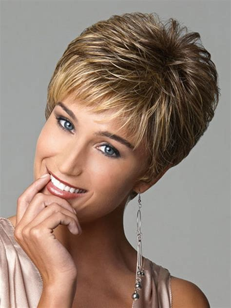 highlights in very short hair short female haircut picture more detailed picture about