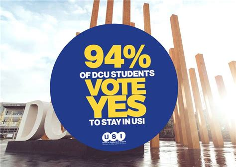 overwhelming majority of dcu students vote to stay with