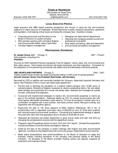 Sample Executive Resume Format by Personal Injury Paralegal Resume Sample Recentresumes Com