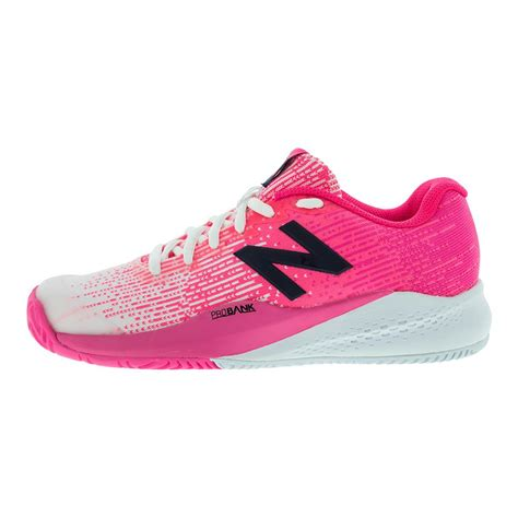 pink tennis shoes new balance 996v3 b width tennis shoes in pink and white
