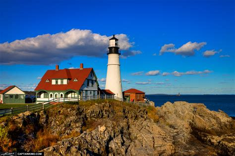 Portland Maine Lighthouse at Fort Williams Park Cape Elizabeth