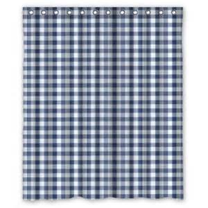 Navy Blue Plaid Curtains Buy Navy Blue And White Gingham Check Plaid Fashion Pattern Waterproof Shower Curtains Shower