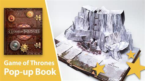 of thrones books of thrones pop up book by matthew reinhart best pop