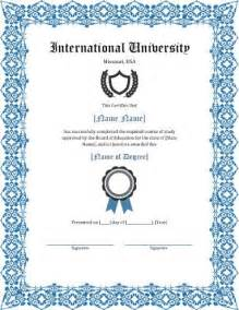 degree template 11 free printable degree certificates templates