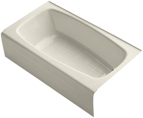 enameled cast iron bathtub kohler k 746 47 almond seaforth 54 quot enameled cast iron