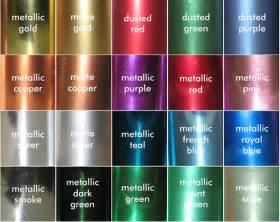 metallic color colors