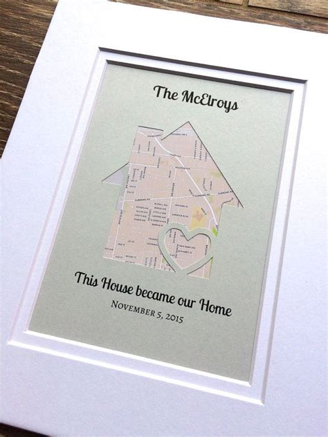 first home housewarming gift this house became our home personalized map by handmadehq