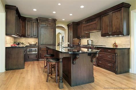 colors for kitchens with dark cabinets pictures of kitchens traditional dark wood kitchens