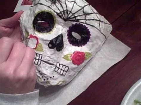 How To Make A Skull Mask Out Of Paper - day of the dead masks at s place