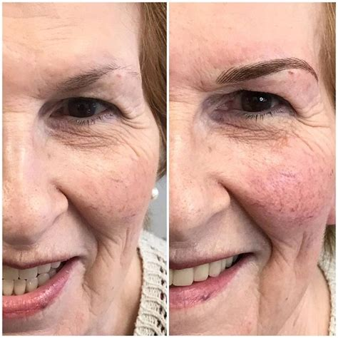 tattoo eyebrows old lady various super defined brow styles permanent make up