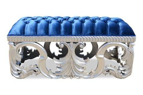 royal blue velvet bench bench silver royal blue baroque bedrooms and