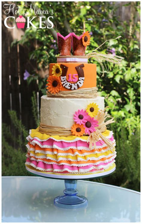 western themed quinceanera cakes western quinceanera cake by hot mama s cakes cakesdecor