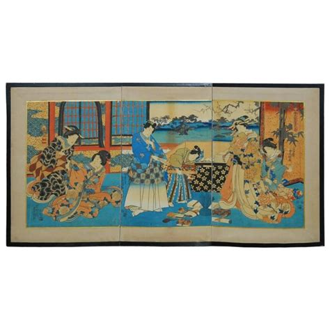 libro japanese prints ukiyo e in utagawa kunisada japanese ukiyo e woodblock print screen for sale at 1stdibs