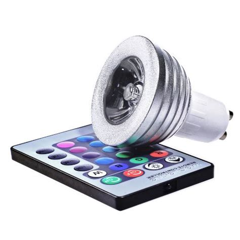 led color changing lights with remote 3 watt colour changing gu10 led light bulb with remote