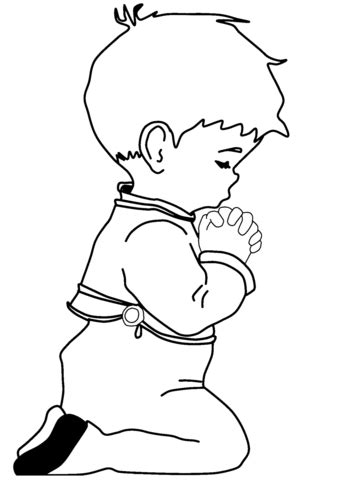 coloring page boy praying click to see printable version of praying little boy