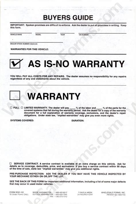 as is document template as is no warranty 3 part buyer s guide plasticback bge