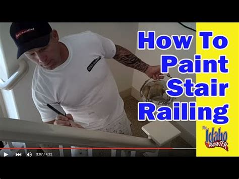 Wooden Stair Rails And Banisters Painting A Hand Rail How To Paint Stair Railing Youtube