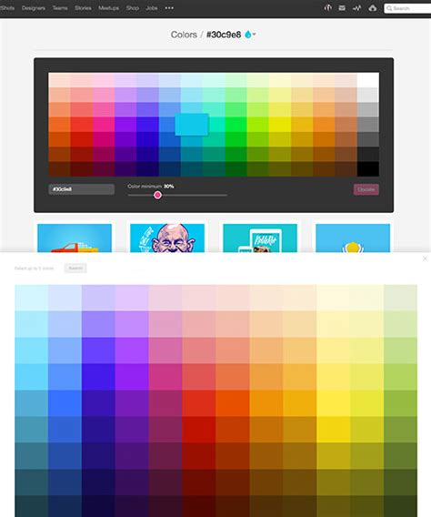 designspiration search by color a simple web developer s color guide smashing magazine