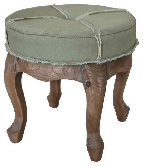Tufted Ottoman Stool Rustic Elegance Tufted Stool Footstools And
