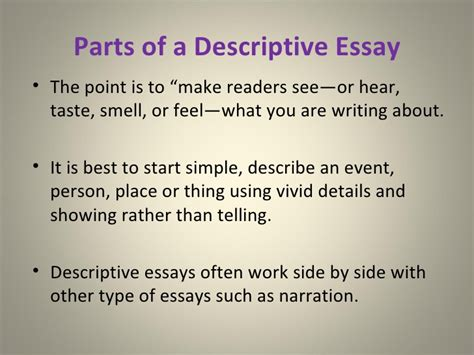 Descriptive Essays On The by The Descriptive Essay
