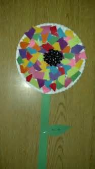 Kindergarten Paper Crafts - preschool craft flower paper plate construction