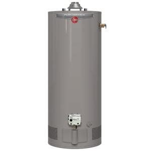 water heater home depot rheem performance 40 gal 6 year 36 000 btu