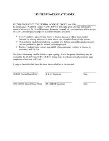 limited power of attorney template best photos of power of attorney template pdf sle