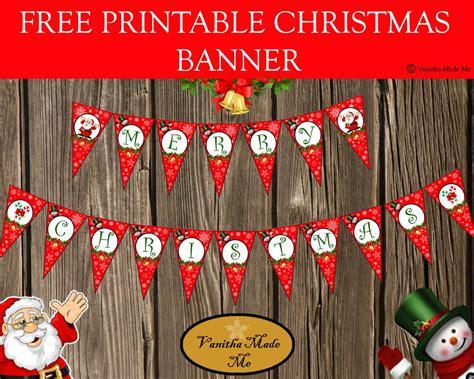 printable xmas banner free printable christmas banner kreat 237 vs 225 gok pinterest