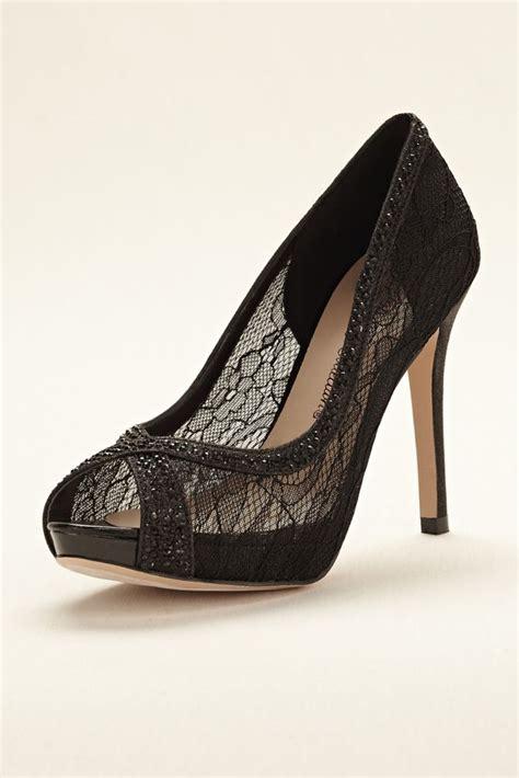 wedding shoes davids bridal david s bridal wedding bridesmaid shoes lace peep toe high