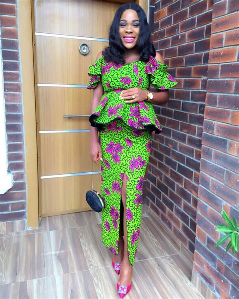 ankara tops styles see these pictures of latest ankara peplum styles in 2018