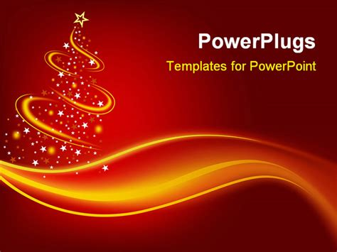 PowerPoint Template: Christmas theme with abstract