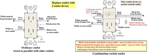 outlet switch combo wiring diagram gansoukin me