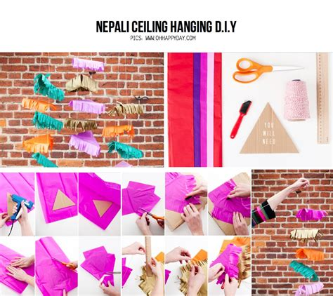 Hang A Chandelier Party Diy The Nepali Ceiling Diy Project From Ohhappyday Com