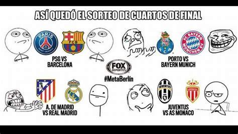 Memes De La Chions League - chions league los memes del sorteo de cuartos de final
