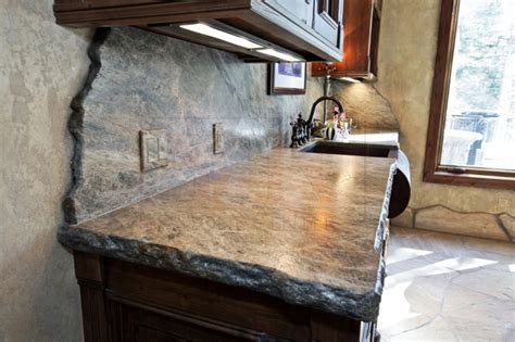 Kitchen Backsplash Medallion mountain home old western meets new style natural stone