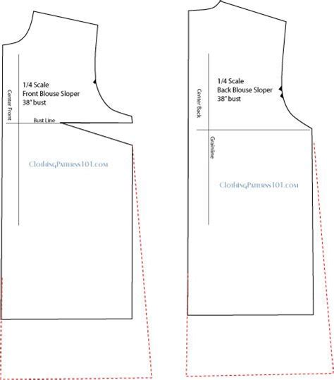 pattern drafting blouse drafting the basic tunic top use your blouse block make