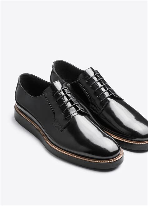 oxford shoes black vince oxford shoe in black for lyst