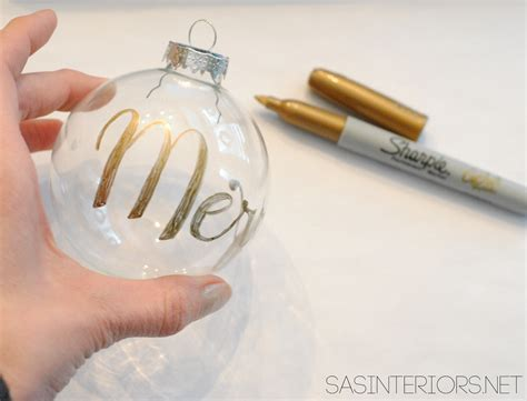 diy personalized word christmas ornament apartments com