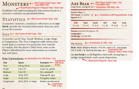 dnd 5th edition template 3x5 card the fonts of d d 5th edition 171 a walk in the