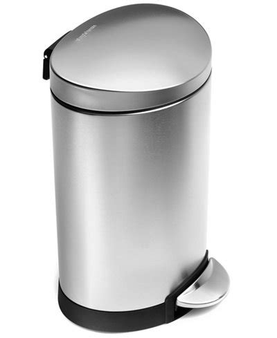 simplehuman bathroom trash can simplehuman trash can mini semi round step can 6 liter
