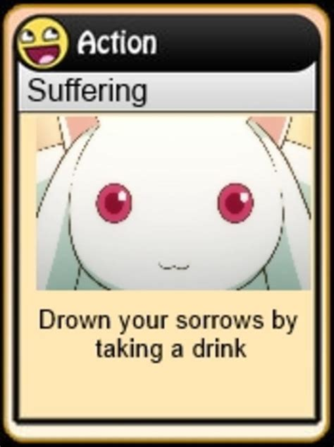 action suffering chan drinking game cards   meme