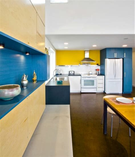 cuisine moderne jaune comment amnager une cuisine deco bleu et jaune