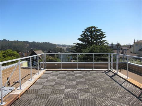 Aluminum Wire Railing Roof deck   Contemporary   Deck